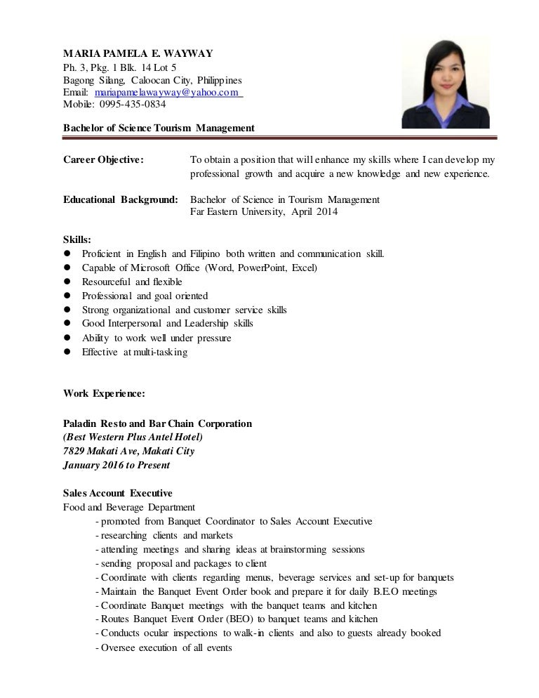 pamela wayway resume