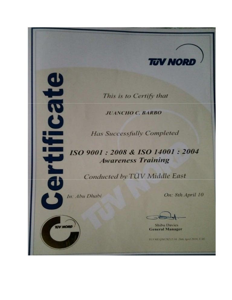 certificate ems