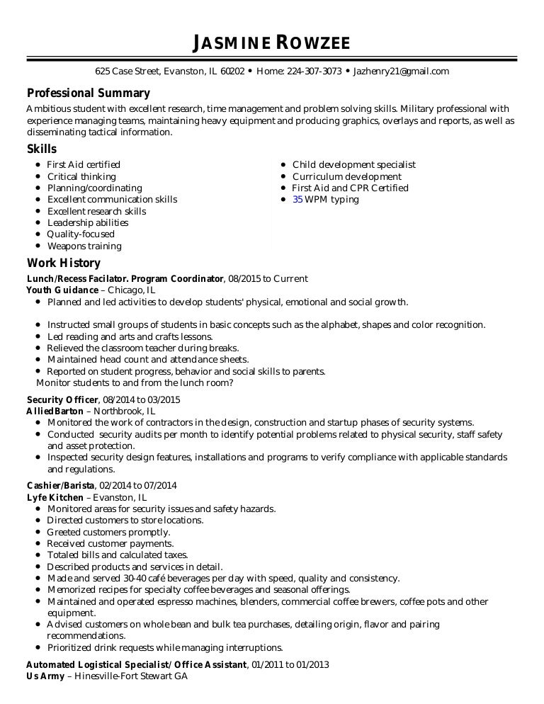 Automated Logistic Specialist Resume Logistic Specialist Resume