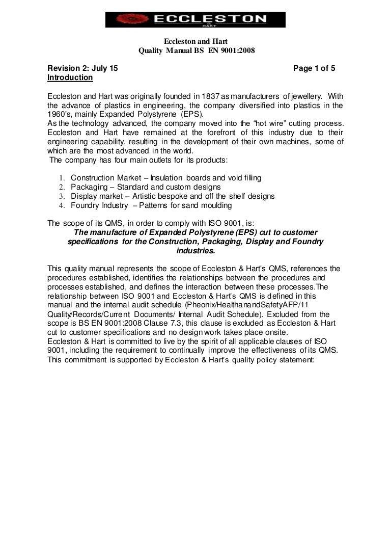 Quality Manual EN BS ISO 9001 2015 Rev 2