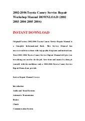 2002 toyota solara owners manual pdf