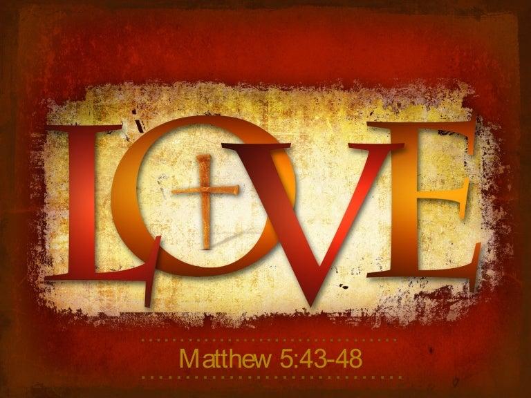 Love like Jesus loves us