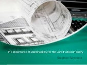 Stephen Rayment | Sustainability for the Construction Industry