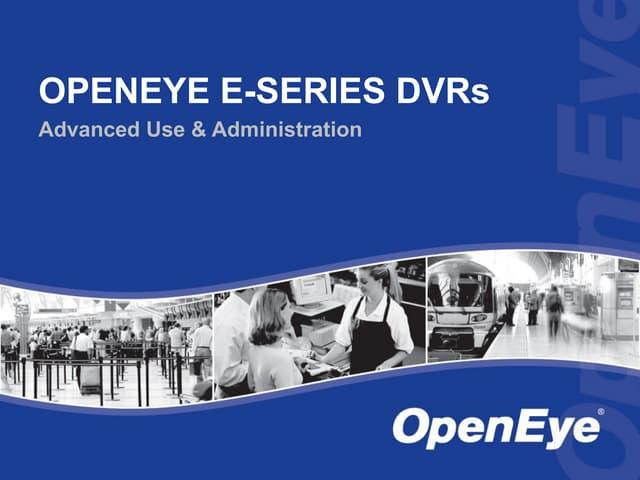 OpenEye Embedded Training