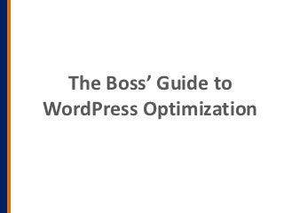 Optimizing WordPress for Speed and Conversions by David Vogelpohl