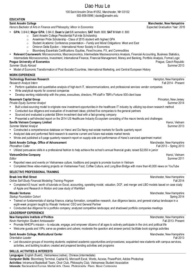 ross education optimal resume