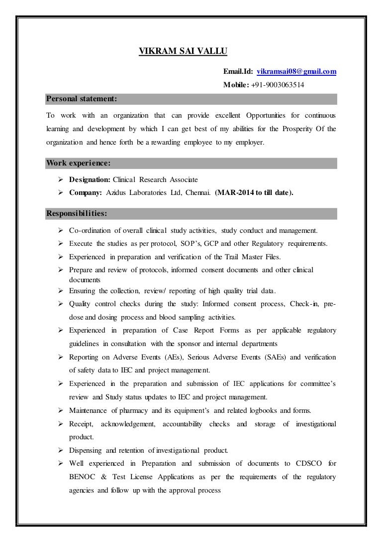 resume m pharmacy pharmacology years and months of experi