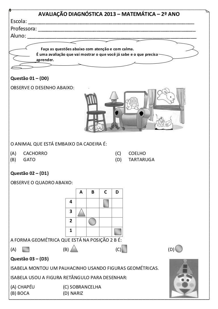 2º Ano Avaliacao Diagnostica Matematica