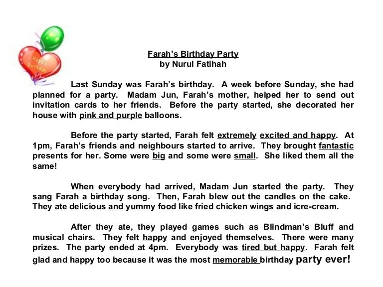Surprise birthday party for mom essay