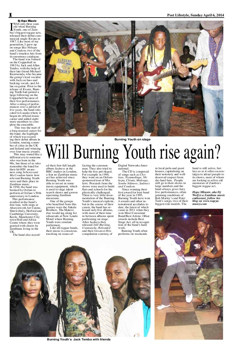Burning Youth Article