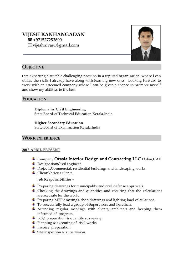 civil engineer cv curriculum vitae civil engineer sample sample ...
