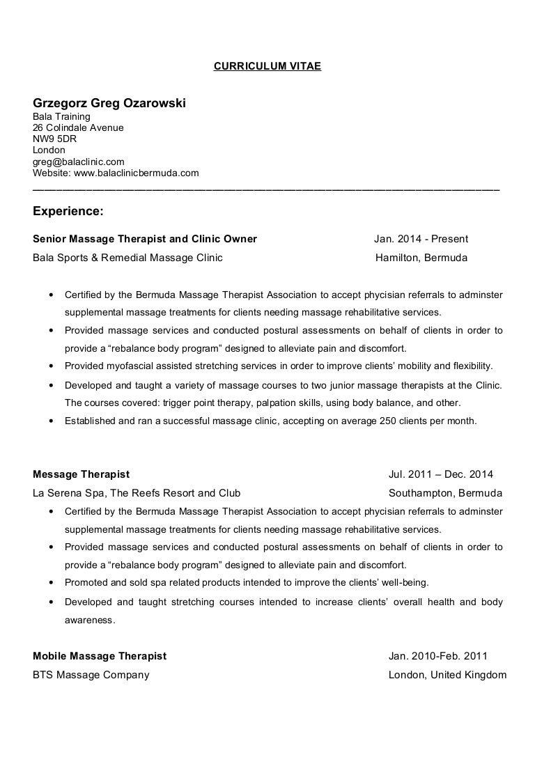 greg ozarowski resume letter cv