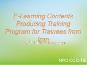 E-Learning Contents Producing Training Program for Trainees from Iran