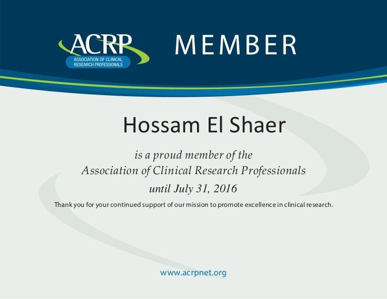 acrp certificate