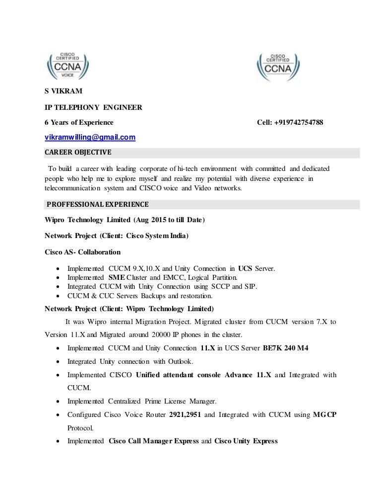 vikram cisco voice new resume