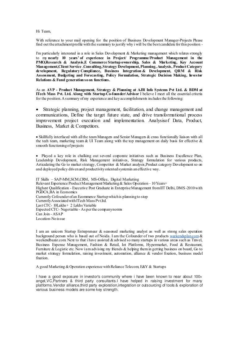 Cover Letter For Strategic Planning Position Vorte