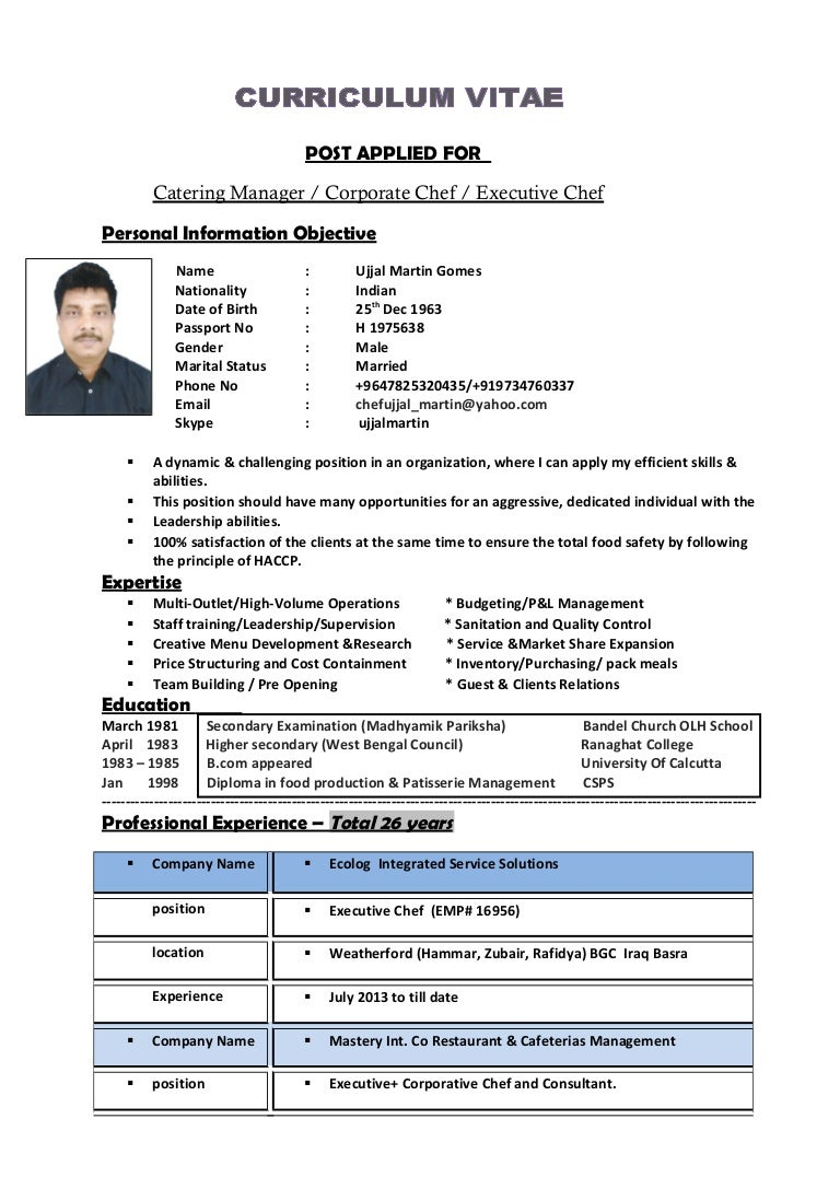 1 Ujjal Martin CV 1 WITH PHOTO