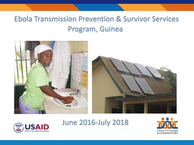 Ebola Transmission Prevention and Survivor Services Program, Guinea