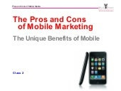 Mobile Marketing: Pros and Cons_Michael Hanley