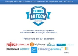 2nd Annual Future Ed Tech Agenda