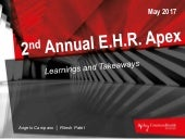 The 2nd Annual E.H.R. Apex 2017: Learnings and Takeaways