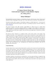 Call for Papers Social Work Day International Congress on Qualitative Inquiry