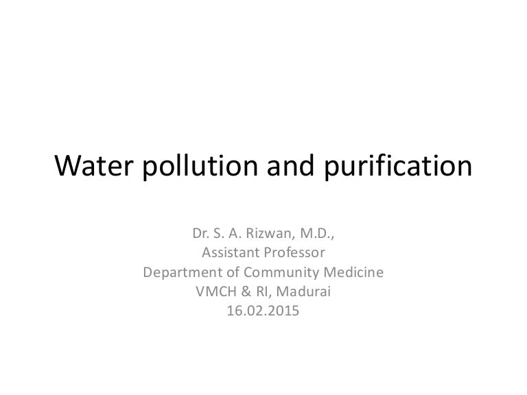 Water Purification Part 1