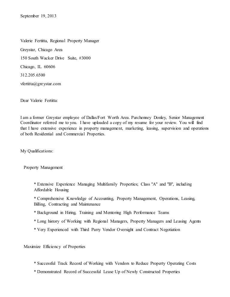 cover letter for property manager job selo l ink co