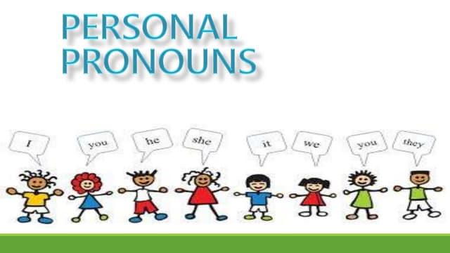 personal pronouns ppt unit 2
