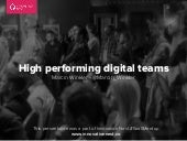 High performing digital teams by Marcin Winkler