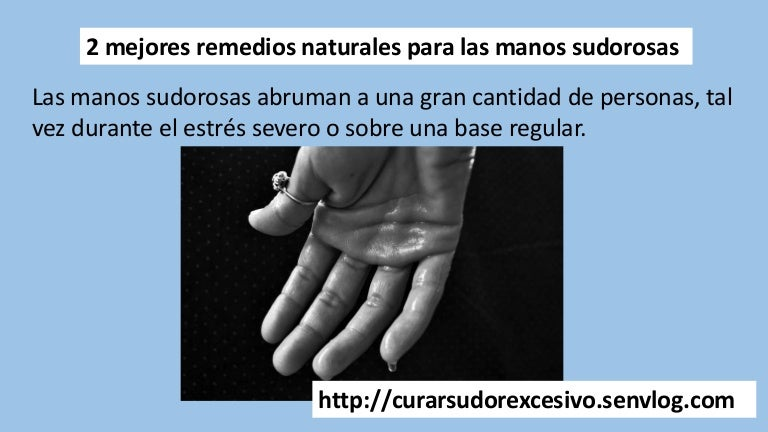 manos sudorosas pies diabetes