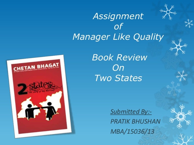 Two States Book