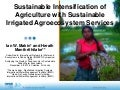 Sustainable Intensification of Agriculture with Sustainable Irrigated Agroecosystem Services