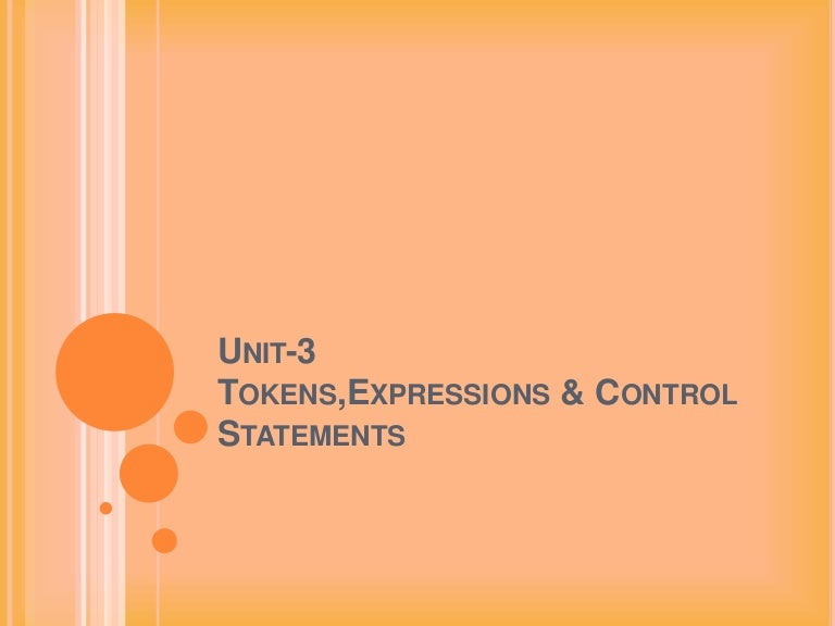 Tokens expressionsin C++