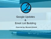 Google Updates & Email List Building by 2 Web Design Inc.