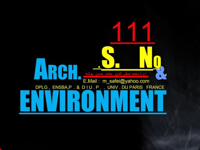 111 archenv العمارة التلقائية وبيئتها الطبيعية