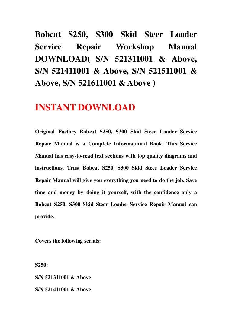 3 130126014532 phpapp02 thumbnail 4?cb=1359164768 bobcat s250, s300 skid steer loader service repair workshop manual do bobcat s250 parts diagram at fashall.co