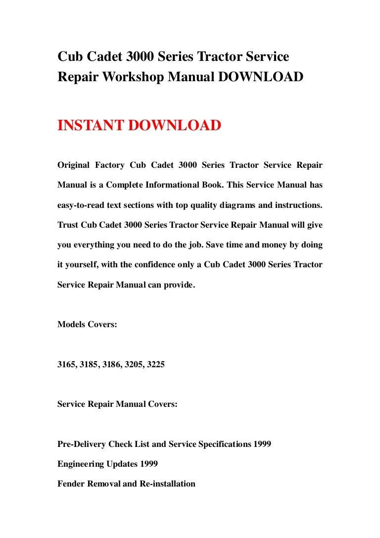 3 130126110048 phpapp01 thumbnail 4?cb=1359198084 cub cadet 3000 series tractor service repair workshop manual download cub cadet 3185 wiring diagram at gsmx.co