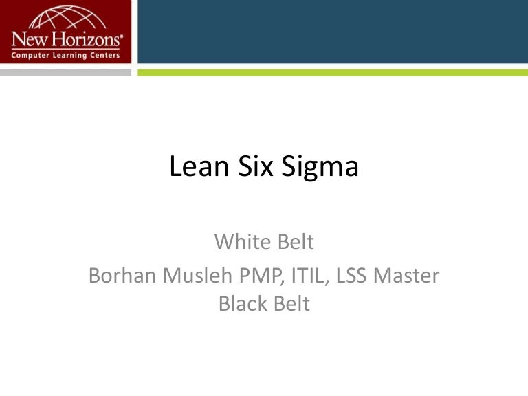 Lean Six Sigma White Belt Webinar