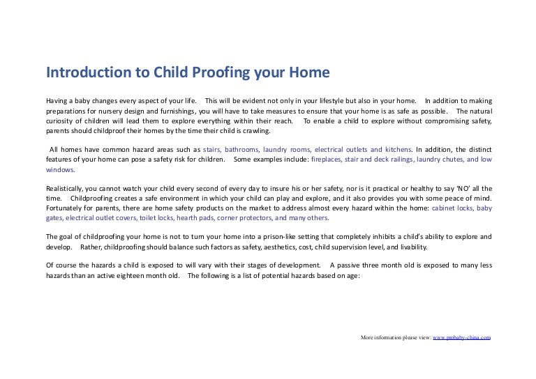 how to childproof your home with useful baby safety products