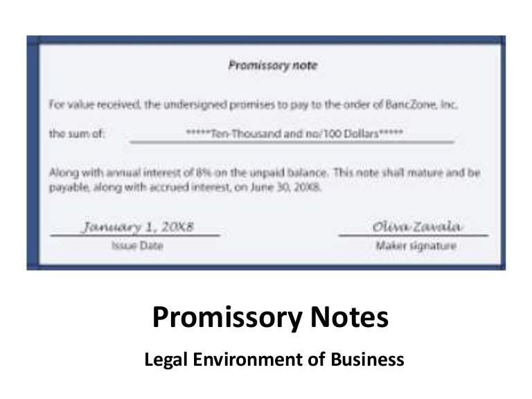 SlideShare  Legal Promise To Pay Document