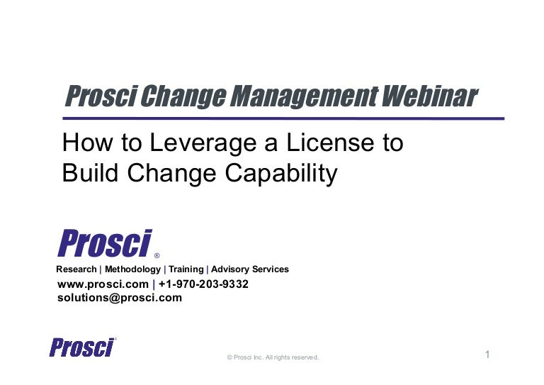 How to Leverage a license to Build Change Capability Webinar