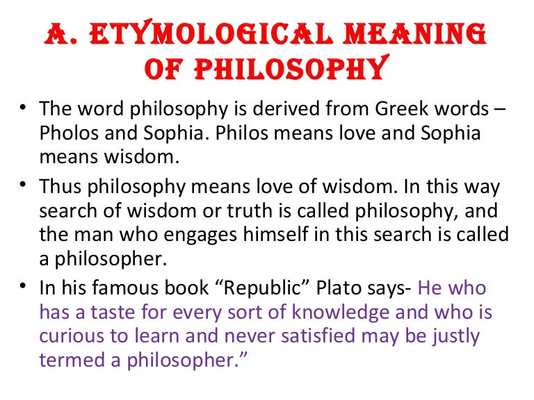 3 1 Etymological Meaning Of Philosophy