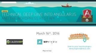 Webinar: AngularJS and the WordPress REST API