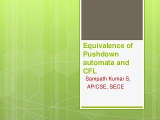 3.5 equivalence of pushdown automata and cfl