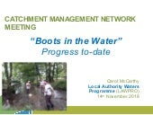 3. Boots in the water: LA Waters Programme progress on implementation - Carol McCarthy,LA Waters