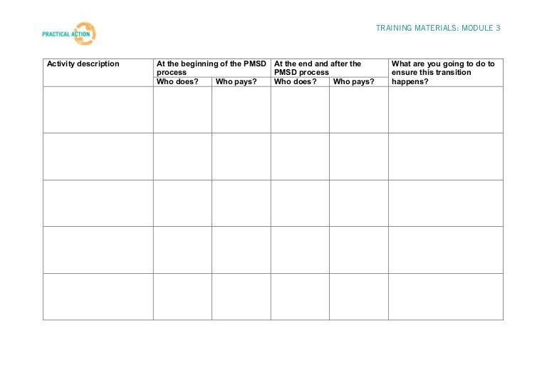 Step 3 Training Materials - Plan Your Strategy Worksheet