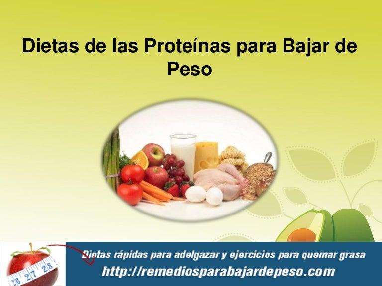 proteinas para la pérdida de peso