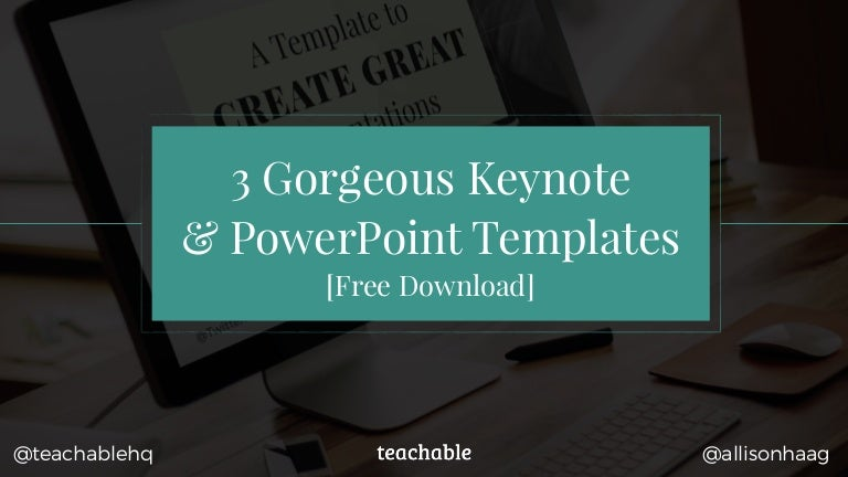 3 Gorgeous Keynote PowerPoint Templates Free Download allisonhaag – Templates 4 Share