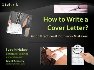 How to Write a Cover Letter?